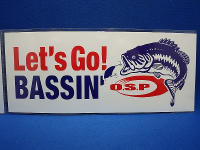 O.S.P Let's Go!BASSIN'ステッカー
